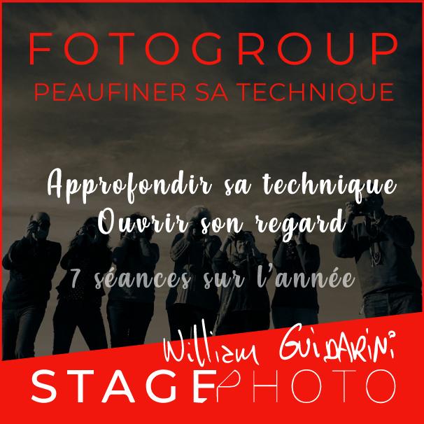 stage photo Fotogroup au Garage Photographie avec William Guidarini